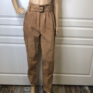 Wilson's Leather Paper Bag Suede Pants Size 8